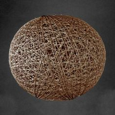 Available in a choice of colours and sizes, this woven ball pendant light shade is crafted from natural abaca fibres....