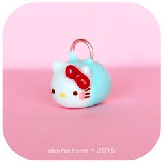 Hello kitty tsum tsum polymer clay creation by Oborochann