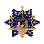 This is a beaded nativity star pendant pattern for Christmas.  Although, I think it would also work as an ornament for a tiny tree or inside a larger ornament for a bigger tree.