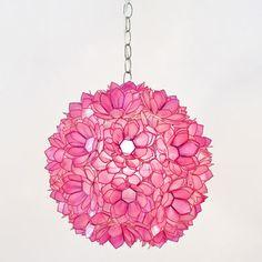 Hot Pink Lotus Pendant