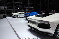 Mondial de l'automobile Paris 2014 - Stand Lamborghini Asterion LPI 910 - Aventador LP700-4 - Huracan LP610-4