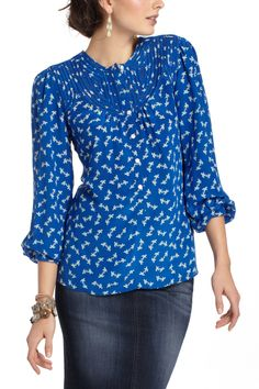 Love the color, pattern, and design :)  Lalani Peasant Blouse - Anthropologie.com