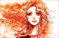 I love this drawing of Merida