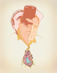 Charles Bukowski's Blue Bird by Haley Stone