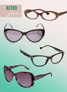 ad615d8f7e Get an insider s peek at the latest eyewear trends for men and women! For  Women  Retro Glam Divas with…