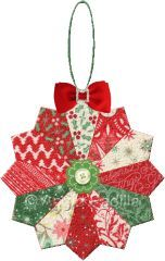 Dresden Plate Ornament - The traditional Dresden Plate block in a smaller size makes a great choice for an ornament. Use different complementary fabrics and sew up a whole slew in one short afternoon!