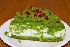 Торт Лесной мох - новогодний, необычный, нежный