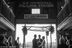 Kate McLewee Photography. Cool ceremony at Smith Barn