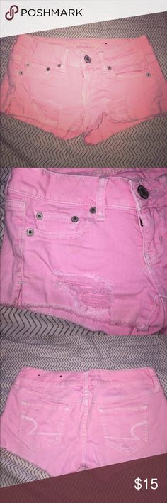 🎉SALE🎉AEO pink jean shorts AEO pink jean shorts. Size 00. American Eagle Outfitters Shorts Jean Shorts