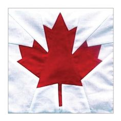 Canada Maple Leaf Block Pattern