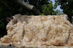 Pelzdecke aus Toscana Lammfell - camel