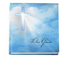 "Personalized Guest Books Spiritual Hardcover Guest book - Heaven 8""x 8"""