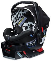 About $200 Britax B Safe Elite 35 car seat--Moms report that it does a really nice job supporting even very small (4+ lbs) infants with use of the included infant padding insert. As the baby grows, you can remove the additional body and head padding to give your baby a bit more room to grow. It also has simple to adjust head protection pads, a 35-pound weight limit, two crotch strap positions (a rarity!), multiple shoulder strap positions to fit a growing baby.