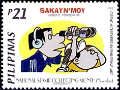 Philippines.   NATIONAL STAMP COLLECTING WEEK.  SAKAY N'MOY BY HUGO YONZON.   Scott 2875  A906, Issued 2003 Nov 1, Php  21. /ldb.