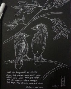 Fast sketch Burung jalak bali