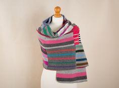 Cashmere Wrap Scarf Bright Stripe (Bright Stripe)