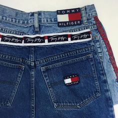 Vintage Tommy Hilfiger logo denim shorts
