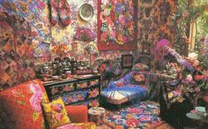 "Kaffe Fassett's  ""Glorious Interiors"". I have this book, use it for my decorating inspiration!"