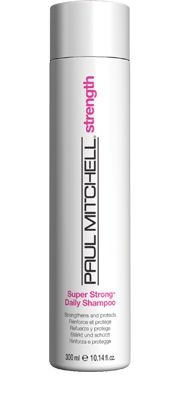 Super Strong® Daily Shampoo  Strengthens and Protects    Gently cleanses and helps repair damaged strands. Improves the look and feel of hair. Helps prevent further damage.  Super Strong® Complex helps to rebuild hair from within.  Mild, colour-safe surfactants cleanse and protect.  Conditioning agents improve texture and   add shine. #paulmitchell #hair #hairproduct #hairdresser #crueltyfree