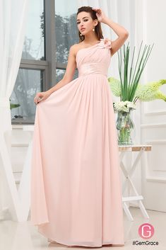 Only $129.9, Bridal Party Dresses A-line One-shoulder Floor-length Chiffon Bridesmaid Dress #OP3357 at #GemGrace. View more special Bridal Party Dresses,Bridesmaid Dresses now? GemGrace is a solution for those who want to buy delicate gowns with affordable prices, a solution for those who have unique ideas about their gowns. 2018 new arrivals, shop now to get $10 off!