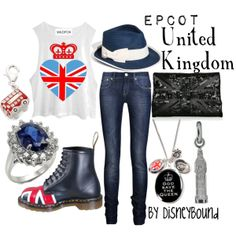 """""""United Kingdom"""" by lalakay on Polyvore - Not strictly British (since this is referencing a Disney themed area), but very Anglophile-appropriate"""