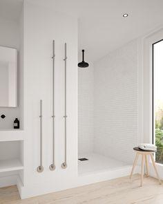 Simpel, elegant en functioneel. Dit zijn de kenmerken van de elektrische handdoekdroger Jay.