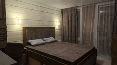 Проект спальни в стиле современного шале