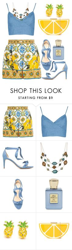 """Tropical!!"" by razone ❤ liked on Polyvore featuring Dolce&Gabbana, Alexandre Birman, Mixit and Bella Bellissima"