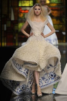 Christian Dior Haute Couture - 2009  I would never wear it but it's amazing what some people can do with fabric