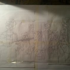 Tracings assembled for the 'Mognificent Seven'. www.julianquaye.co.uk