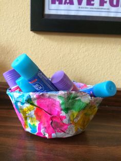 Preschool Paper Mache- fun, easy, zero-added cost, what's not to love about this project.
