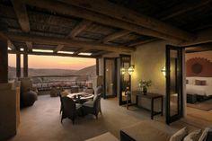 The Qasr Al Sarab desert resort...