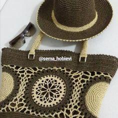 De Croche De Croche barbante De Croche com grafico De Croche de mao De Croche festa - Bolsa De Crochê Crochet Collar, Crochet Tote, Crochet Purses, Crochet Granny, Knitted Bags, Crochet Accessories, Handmade Bags, Straw Bag, Purses And Bags