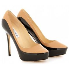 Jimmy Choo SEPIA PATENT AND LEATHER PUMPS ¥206