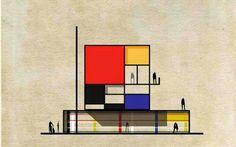 Mix fantastico!!! L'arte incontra l'architettura #architettura #design #funiture #interior