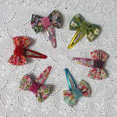 Liberty print bow hairclips