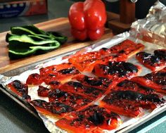 How to roast peppers in the oven. Had a yummy roasted red pepper, chicken and c. - How to roast peppers in the oven. Had a yummy roasted red pepper, chicken and cheddar omlette… - Homemade Pimento Cheese, Pimento Cheese Recipes, Cheese Dips, Cooking Ingredients, Cooking Recipes, Whole30 Recipes, Cooking Tips, Veggie Dishes, Vegetable Recipes