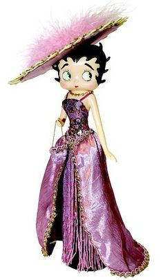 BB in a beautiful purple hat and gown ~ Figurine ~ #bettyboop #classics #vintage ✿⊱╮