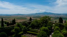 The Val d'Orcia and Monte Amiata seen from the loggia of the Palazzo Piccolomini