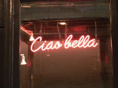 Ciao Bella Neon Sign | Neon Light | Quote | Inspiration