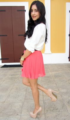 @Forever 21 skirt, pumps and clutch