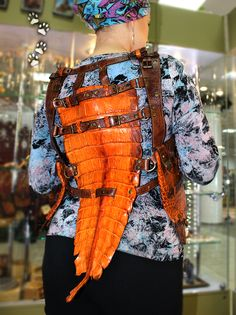 4lapki сумка-кобура жилет крокодил кожа ручная работа / holster-bag vest crocodile leather handmade craft