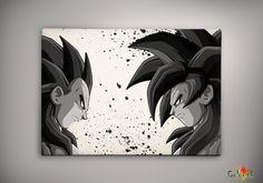 Dragon Ball Goku and Vegeta SSJ4  Print  Archival Print  Art Print  Wall Decor…