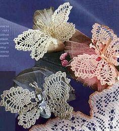 Graph directions only Crochet Stitches Patterns, Crochet Chart, Thread Crochet, Crochet Motif, Crochet Doilies, Crochet Flowers, Knitting Patterns, Crochet Butterfly Pattern, Crochet Embellishments