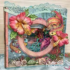 Under The Sea Layered card from #HeartfeltCreations #cardmaking #tropicalfish #tropical #hibiscus