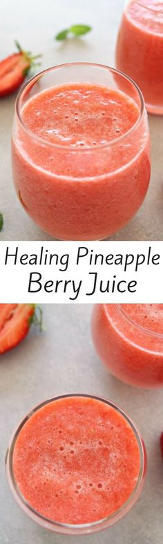 Healing pineapple and Berry Juice