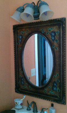 Bathroom ideas on pinterest oval mirror bathroom and beautiful bathrooms for How to frame an oval bathroom mirror