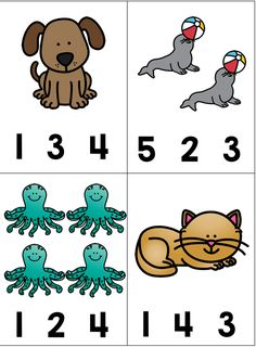 This math activity focuses on one-to-one correspondence, counting, and fine motor skills. It is perfect for preschool, Kindergarten and special education. The task cards fit in a photo box and can be stored with the clothespins for easy access Preschool Number Worksheets, Preschool Schedule, Numbers Preschool, Preschool Learning Activities, Preschool Lessons, Preschool Worksheets, Preschool Activities, Teaching Kids, Kids Learning