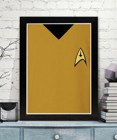 Star Trek minimalist poster print  classic iconic uniforms