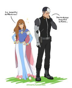 Beautiful as Princess Allura- Pidge and Shiro from Voltron Legendary Defender